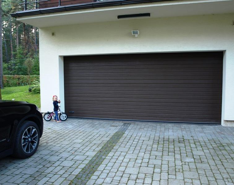 ... High Quality Dark Brown Garage Door ...