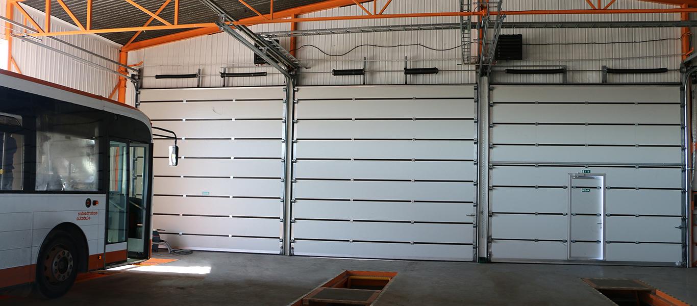 Industrial sectional doors im40 ripo international white industrial doors with wicket door rubansaba