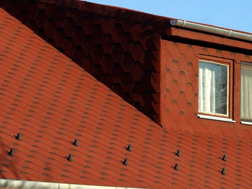 red brown roofing