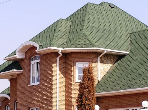 Green iko shingles for private house